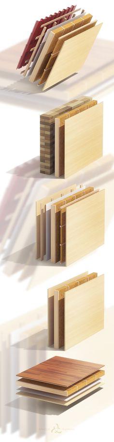 Wood-frame construction on Behance