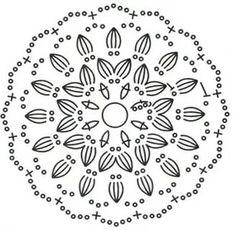 круглые мотивы крючком схемы: 22 тыс изображений найдено в Яндекс.Картинках
