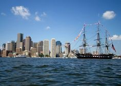 U.S.S. Constitution sailing Boston Harbor