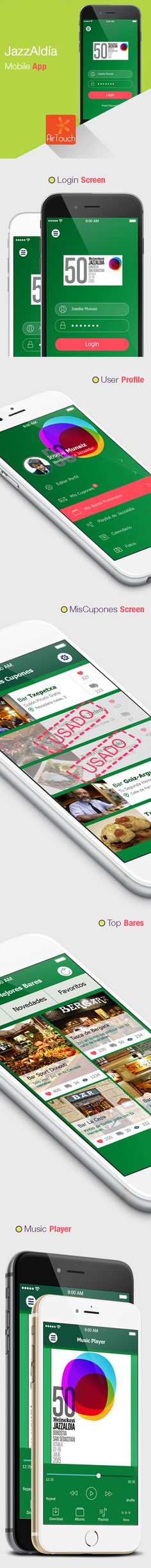 HEINEKEN JAZZALDIA Mobile UI Example by Airtouch New Media