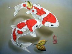 Природа. Цветы. Осеева Алина. Обсуждение на LiveInternet - Российский Сервис Онлайн-Дневников Koi Art, Fish Art, Koi Painting, Koi Fish Pond, God Pictures, Ocean Creatures, Goldfish, Asian Art, Art Images