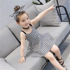 Wholesale Aobei Summer Dress Suspender Skirt Girl Plaid Dress Princess Skirt Years Old from Our website with high quality and fast shipping worldwide. Frocks For Girls, Girls Dresses, Bridal Dresses, Girl Outfits, Cute Outfits, Girls Sweaters, Plaid Dress, New Girl, Baby Dress