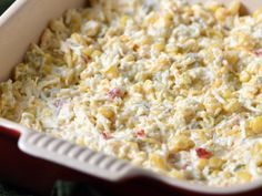 This cheesy corn dip is pure comfort food and ridiculously easy to make! Perfect for parties or game day get-togethers. Dip Recipes, Sweet Recipes, Snack Recipes, Cooking Recipes, Healthy Appetizers, Appetizer Recipes, Kentucky Derby, Christmas Breakfast Casserole, Creamy Spinach Dip