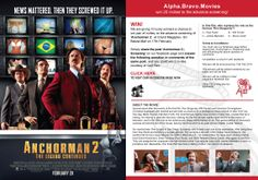 We are giving 10 lucky winners a chance to win pair of invites to the advance screening of 'Anchorman 2' at Grand Megaplex, Ibn Batuta Mall 17th February. Simply share the post 'Anchorman 2 | Screening' on our facebook page and answer the following question in comments of the same post, and you could win 2 invites, courtesy of Gulf Film.