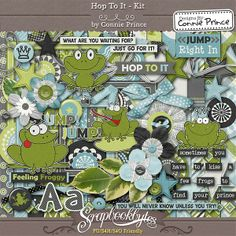Hop To It - Kit :: Full Kits :: Kits & Bits :: SCRAPBOOK-BYTES from Designs by Connie Prince