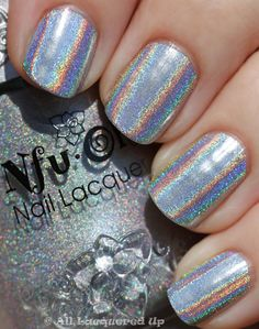 A wonderful alternative to the discontinued versions of holographic polish... but you have to have their base coat to get this look. Good to know.