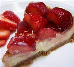 Strawberry Cheesecake Pie from Food.com: The perfect dessert for a sunny day. I have made this recipe with other fruit (blueberries, raspberries) and they have turned out great. And it's so Easy to make, you won't regret making this pie!! Enjoy