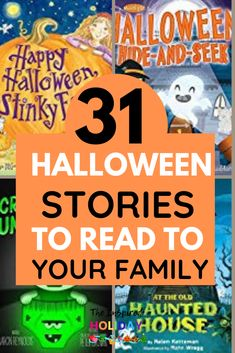 Reading as a family is one of my favorite holiday traditions. It's the easiest way to spend time as a family while counting down to Halloween. This list gives you a book a day for 31 days to get your excited for Halloween! Halloween Stories For Kids, Halloween Books, Halloween Halloween, Halloween Themes, Sweet Stories, Cute Stories, Scary Stories, The Graveyard Book, Award Winning Books