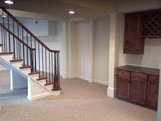 Easy Basement Carpet Tiles Ideas — Reddish Home Ideas Best Carpet For Basement, Carpet Tiles For Basement, Basement Flooring, Carpet Stairs, Basement Remodeling, Basement Ideas, Basement Stair, Basement Makeover, Kitchen Carpet