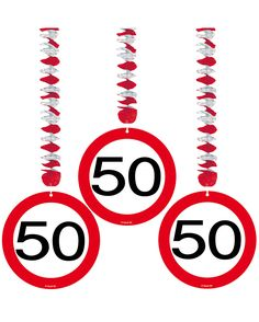 Absperrband Verkehrsschild Zahl 18 Geburtstag Deko Dekoration Feier