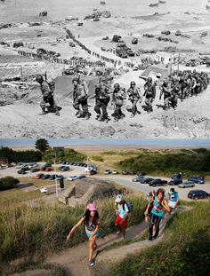 Normandy Then and Now. This is why I'm a firm believer in knowing history and where you've been.