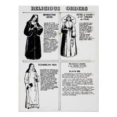 Shop Religious Orders Benedictine Nuns Poster created by tnmpastperfect. Religious People, Religious Gifts, Catholic Art, Roman Catholic, Nuns Habits, Linear Art, Witchcraft Books, Christ The King, Thing 1