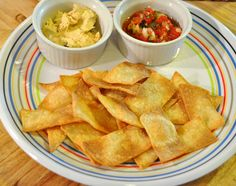 [re] Designing This Life: Low Iodine Diet: Baked Corn Chips (and some tasty dips)