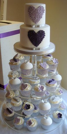Purple Heart Love Cake