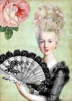 #Marie Antoinette  #Fabric Block  $5.00