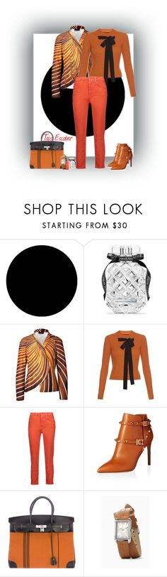 """Orange................."" by tais-escobar ❤ liked on Polyvore featuring Wall Pops!, Victoria's Secret, Akris, Rochas, Acne Studios, Valentino, Hermès and Maybelline"