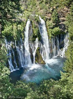 Burney Falls, Shasta, California by Ken Hornbrook