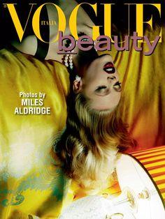 Frida Gustavsson for Vogue Italia Beauty by Miles Aldridge