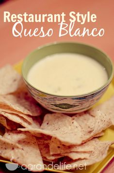 Make this smooth and creamy Queso Blanco, just like you'll get at your favorite Mexican Restaurant.   Since college, we have frequented a local Mexican rest
