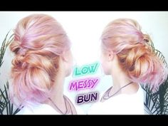 EASY HAIRSTYLE LOW MESSY BUBLE BUN UPDO | Awesome Hairstyles