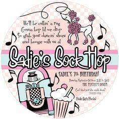sock hop invite