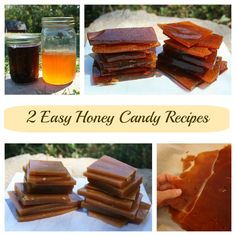 Two Easy Honey Candy Recipes I'm always looking for ways to use some of my infused vinegars, such as Blackberry Vinegar, and this easy honey candy recipe fits the bill perfectly! Banana Dessert, Dessert Bread, Paleo Dessert, Honey Recipes, Fall Recipes, Vegan Chocolate, Chocolate Peanut Butter, Honey Candy, Medieval Recipes