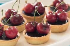 Chocolate cherry tarts recipe, NZ Womans Weekly – Fresh cherries dark chocolate and kirsch simply delicious - Eat Well (formerly Bite) Christmas Treats, Christmas Baking, Christmas Parties, Christmas 2017, Speedy Recipes, Cherry Recipes, Cherry Tart, Small Cake, Chocolate Cherry