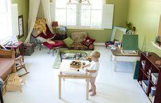 Montessori inspired play room
