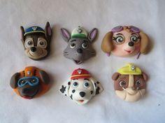Paw Patrol - Fondant - Cake - Cupcake Topper Heads