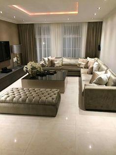 Living Room Decor Fireplace, Ceiling Design Living Room, Decor Home Living Room, Home Room Design, Home Interior Design, Living Room Designs, Classy Living Room, Future, Bedroom