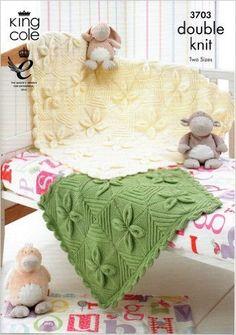 King Cole Knitting Motif 3703: Baby Feuille design Lit et landaus Couvertures: Amazon.co.uk: King Cole: Livres