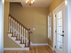 : Sherwin Williams Restrained Gold - Best Source of DIY Home Improvement Foyer Paint Colors, Kitchen Paint Colors, Paint Colors For Living Room, Interior Paint Colors, Paint Colors For Home, Wall Colors, House Color Schemes, House Colors, Gold Painted Walls