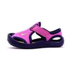 Sandalia chancla niña Nike Sunray protect fucsia