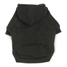 Zack & Zoey Polyester Fleece Lined Dog Hoodie, Medium, Black - http://www.thepuppy.org/zack-zoey-polyester-fleece-lined-dog-hoodie-medium-black/