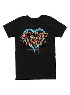 All Time Low Brick Wall T-Shirt, BLACK