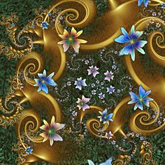Made with Ultra Fractal 5.03 - full size viewing recommended. Other images in this jewel series that you might enjoy can be found in my Fractal Jewels gallery here: Link We all need more time so to...