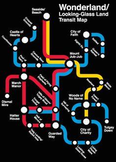 Looking Glass Land Transit Map