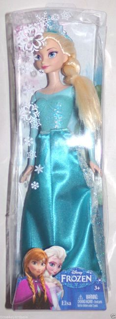 Disney Frozen Elsa Sparkle Princess Doll Mattel 2014 #Mattel