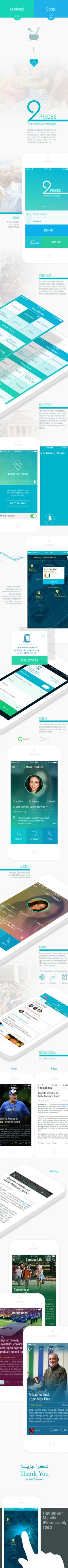 Social Student App IPHONE/ANDROID by Yasser Achachi , via Behance... I will apply this one in my university.