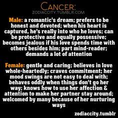 Cancer Male & Female