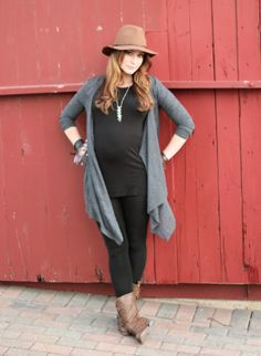 How cute does this mama look? For all you pregnant women out there, follow our boards for more inspiration! Show off that belly!  Shop MHOC on Amazon for similar, fleeced leggings. We all need that one pair of leggings that we love. Our top rated leggings come in several colors, and the prices range from $5.99-$14.99.