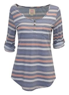 Give into the laid back vibe of Spring in the Quiksilver Dusk To Dawn Henley. This Henley style top......Price - 1