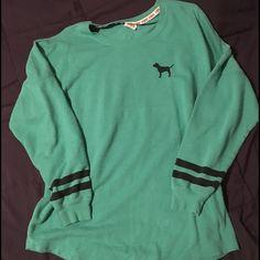 Vs pink crew sweatshirt! Excellent condition. Beautiful color. Size medium but is oversized. PINK Victoria's Secret Tops Sweatshirts & Hoodies