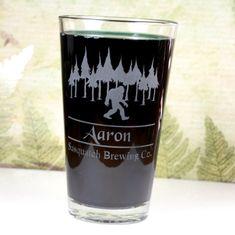 Personalized Sasquatch Home Brew Pint by GlassBlastedHomeBrew, $15.00