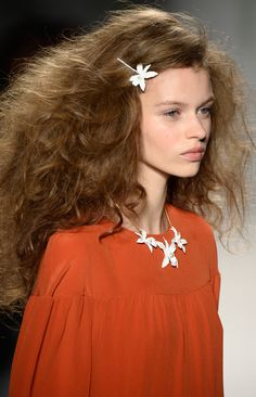 Soft Curls with a Hair Accessory