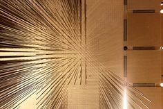 kathrynyu:  Richard Lippold's stunning suspended bronze rod sculpture in the Four Seasons restaurant.