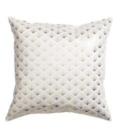 Mønstret putetrekk | Hvit | Home | H&M NO