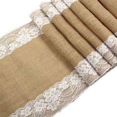 12-X-108-Burlap-Lace-Table-Runner-Natural-Jute-Rustic-Wedding-Decoration