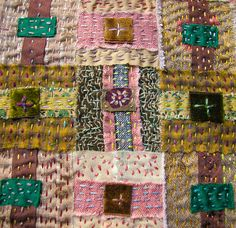 .. fabric weaving and stitching by ---> morna crites-moore
