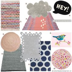 new blog 10x #vloerkleed | 10x #rugs #kids inspiration via Kinderkamerstylist.nl